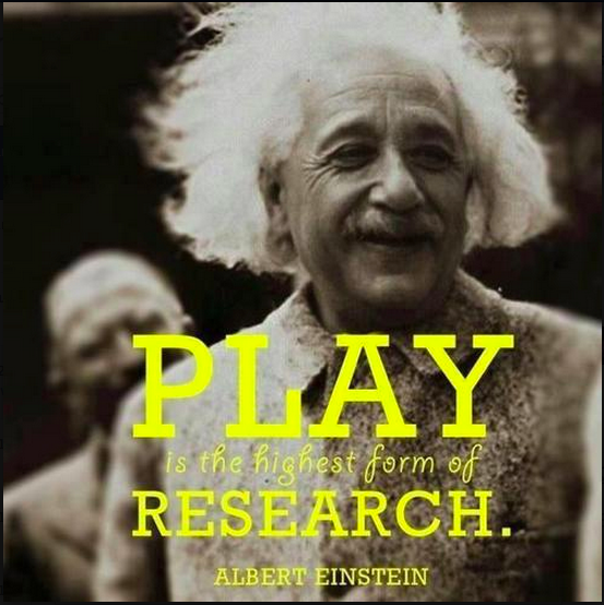 Einstein plays