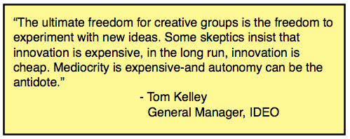 innovation is not expensive